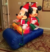 Gemmy Prototype Christmas Mickey and Minnie Mouse Inflatable Airblown