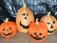Gemmy Prototype Halloween Inflatable Pumpkins