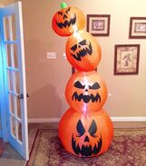 Gemmy Prototype Halloween Pumpkin Stack Inflatable Airblown