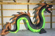 Gemmy Prototype Halloween Inflatable Serpent