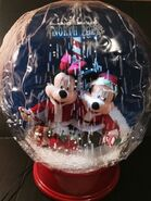 Disney Airblown Inflatable Snow Globe Mickey & Minnie