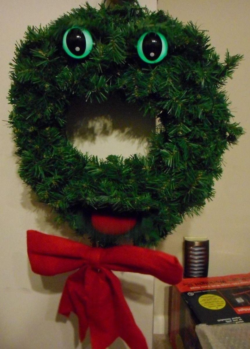Image - Gemmy Christmas ORIGINAL TALKING WREATH Douglas Fir Singing ...