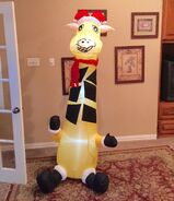 Gemmy Prototype Christmas Giraffe Inflatable Airblown