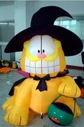 RARE CLASSIC HALLOWEEN AIRBLOWN INFLATABLE GARFIELD
