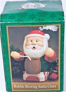 Gemmy animated bubble blower santa claus box