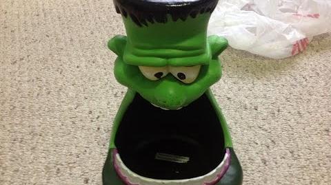 Gemmy 2002 Big Mouth Frankenstein Candy Bowl (Rare)