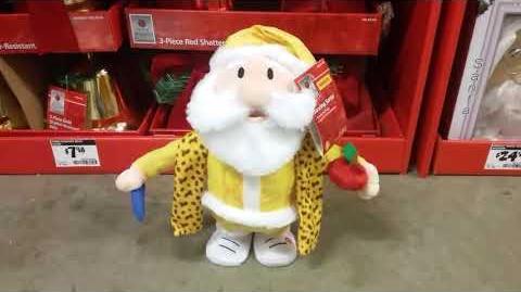 Gemmy Animated Sidestepper Pineapple pen Santa