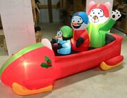7ft Gemmy Airblown Inflatable Christmas Animated Bobsled Prototype