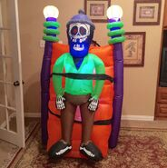 Gemmy Prototype Halloween Shocking Skeleton Inflatable Airblown