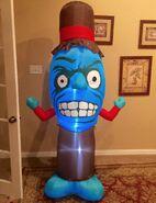 Gemmy Prototype Weird Blue Halloween Monster Inflatable Airblown