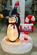 6ft Gemmy Airblown Inflatable Christmas Animated Penguin Skating Scene Prototype 2