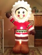 Gemmy Prototype Christmas Eskimo Inflatable Airblown