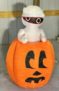 Gemmy Prototype Halloween Inflatable Mummy In Pumpkin