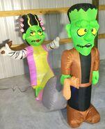 Gemmy Prototype Halloween Inflatable Nagging Monster Bride