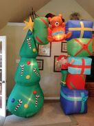 Gemmy inflatable Christmas Archway