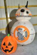 Gemmy Prototype Halloween Inflatable Star Wars BB-8 With Pumpkin