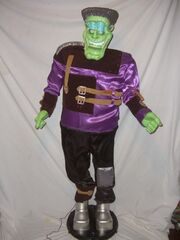 RARE GEMMY FRANKENSTEIN HALLOWEEN ANIMATED 5' SINGING DANCING PROP