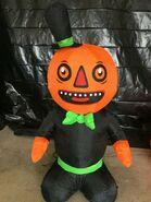 Gemmy Prototype Halloween Inflatable Pumpkin Man