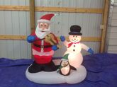 Gemmy animated inflatable santa dancing with fiddle