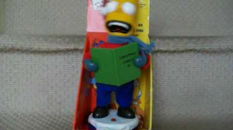 (Gemmy) Caroling Bart Simpson - Own Version of Jingle Bells.