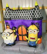 Gemmy Prototype Halloween Inflatable Minion Haunted House