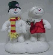 Animated Frosty and Female Snowwoman couple