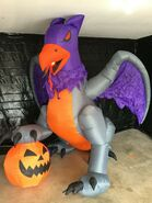 Gemmy Prototype Halloween Inflatable Griffin with FlamingMout