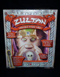 Zultan Animated Fortune Teller Halloween Prop with Box & Accessories - RARE