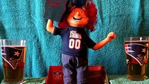 New England Patriots singing figure