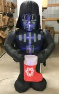 6ft Gemmy Airblown Inflatable Christmas Star Wars Darth Vader Prototype