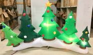 9ft Gemmy Airblown Inflatable Christmas Tree Collection Scene Prototype