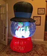 Gemmy Prototype Christmas Snowman Snowglobe Inflatable Airblown