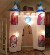 Gemmy Prototype Frozen Olaf Elsa Anna Kristoff Inflatable Airblown