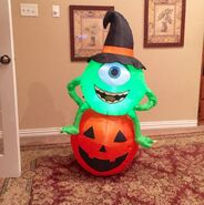 Gemmy Prototype Halloween Monsters Inc Mike on Pumpkin Inflatable Airblown