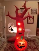Gemmy Prototype Halloween Tree Ghost Pumpkin Scene Inflatable Airblown
