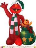 Gemmy inflatable elmo as santa