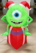 4ft Gemmy Airblown Inflatable Christmas Monsters Inc Mike On Gift Prototype