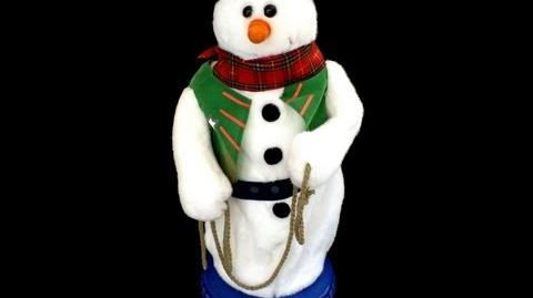 ANIMATED COWBOY CHRISTMAS SNOWMAN