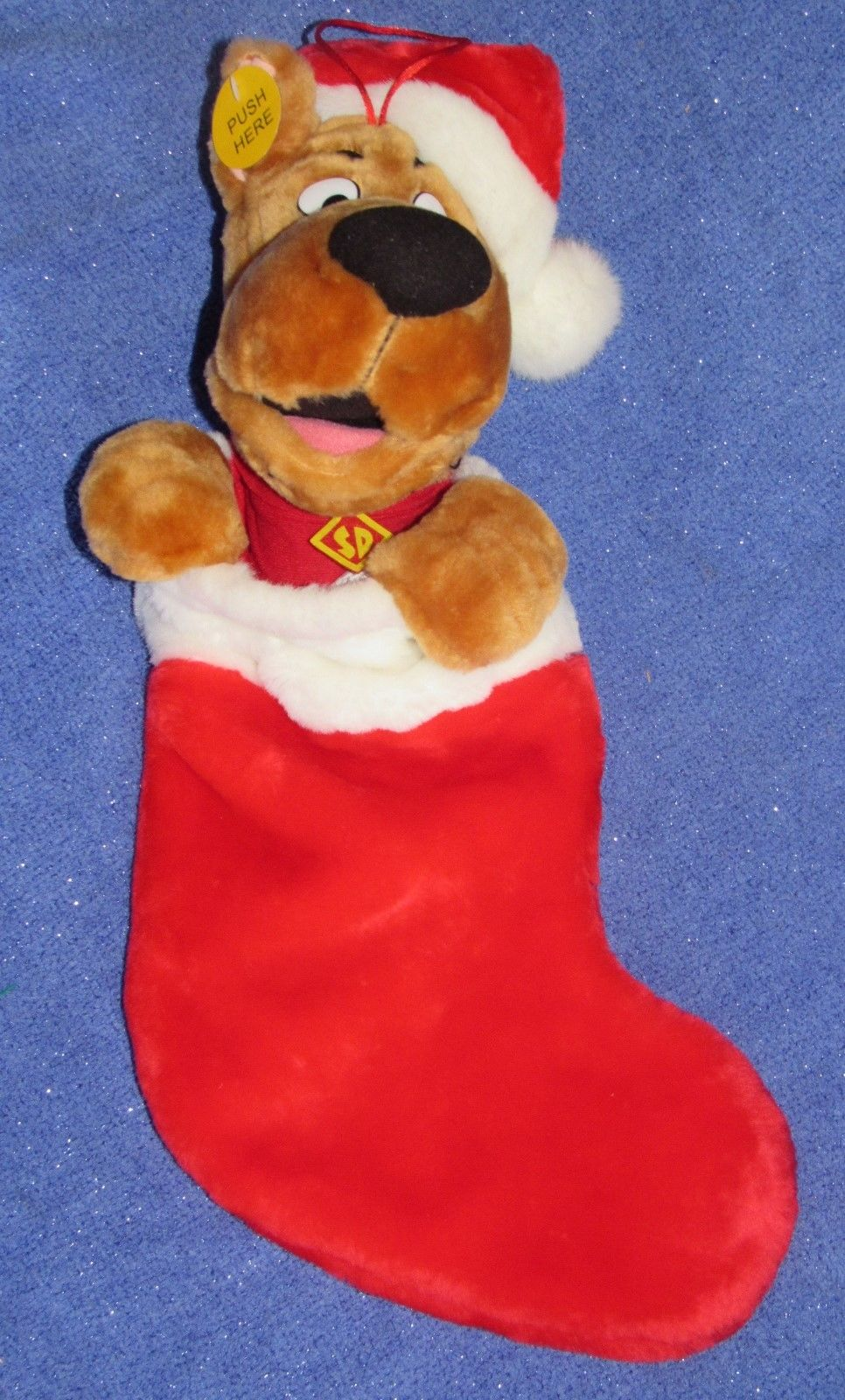 GREAT Animated Scooby Doo Christmas Stocking Mouth Moves Sings