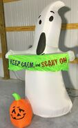 Gemmy Prototype Halloween Inflatable Ghost With Sign