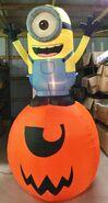 Gemmy Prototype Halloween Inflatable Minion On Pumpkin