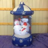Gemmy inflatable sparke dome snowman group