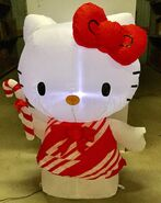 3.5ft Gemmy Airblown Inflatable Christmas Hello Kitty Prototype