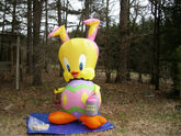 NEW Gemmy Prototype 8'Tall Lighted Easter Tweety Bird EGG Airblown Inflatable
