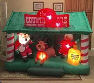 Gemmy Prototype Christmas Country Store Inflatable Airblown