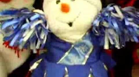 Cheerleader snowman