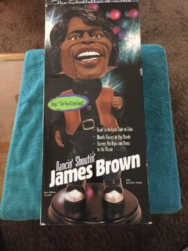 Animated JAMES BROWN Dancin Shoutin Doll!! Brand New In Box!! The Godfather!!