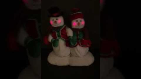 Gemmy singing animated Mr and Mrs Snowman