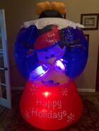 Gemmy Prototype Christmas Happy Holidays Penguin and Fish Inflatable Airblown