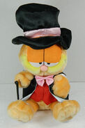 Singing dancing tuxedo Garfield swings cane sings Rag Time Girl